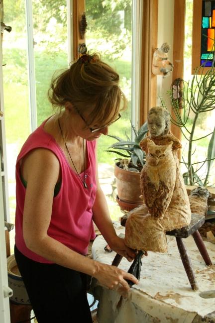 Christina Bothwell in her studio.