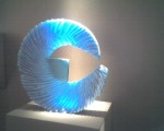 Alex Bernstein, Electric Blue Blade, 2010. Cast and cut glass. H 18 1/4, W 19 1/2, D 3 1/4 in. List price: $8,600. photo: robert minkoff. courtesy: habatat galleries, michigan.
