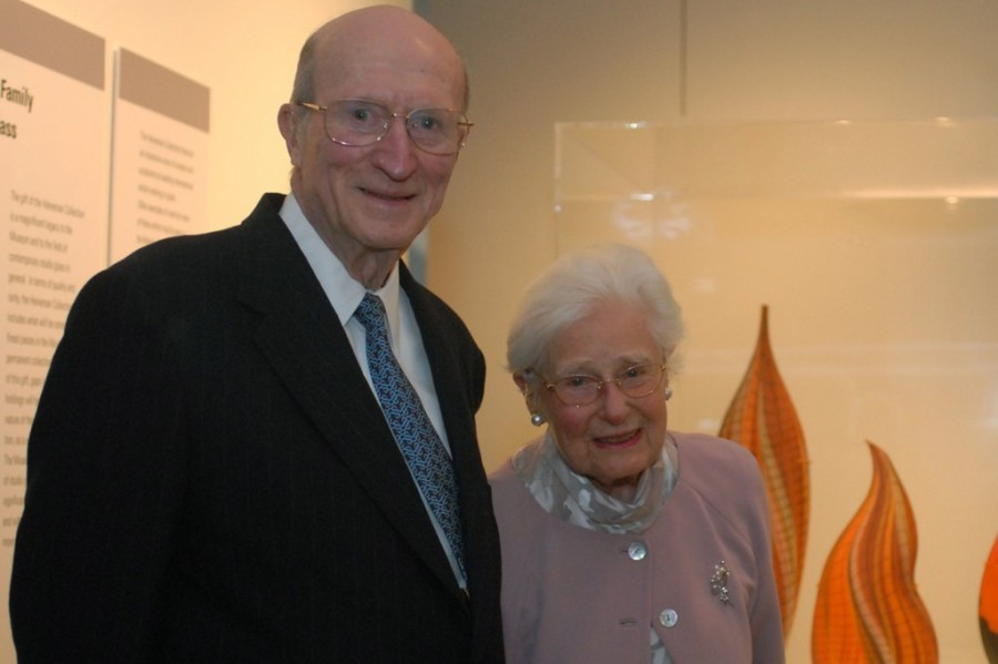 Ben W. Heineman Sr., left, and his wife, Natalie, right. courtesy: corning museum of glass blog