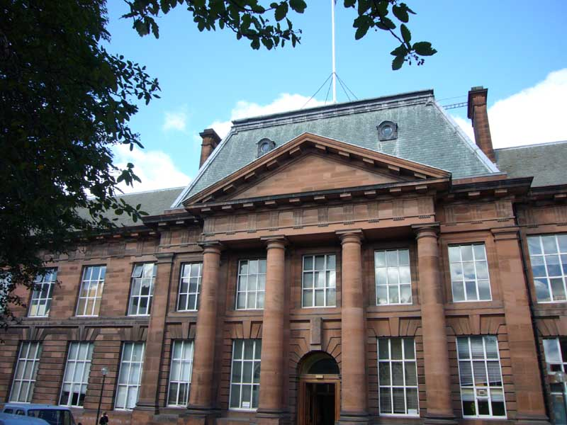 The exterior of the Edinburgh College of Art main building.