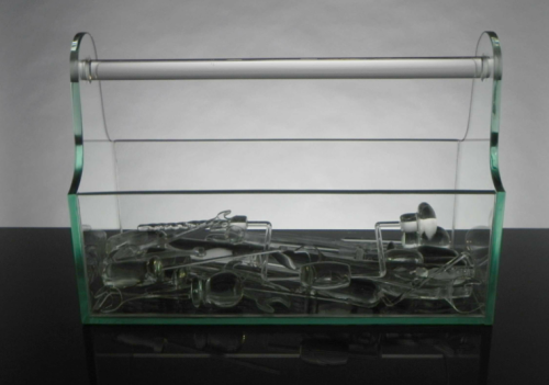 Slate Grove, Tools of the Trade, 2013. Blown, sculpted, and fabricated glass. H 12, W 18, D 7 in.