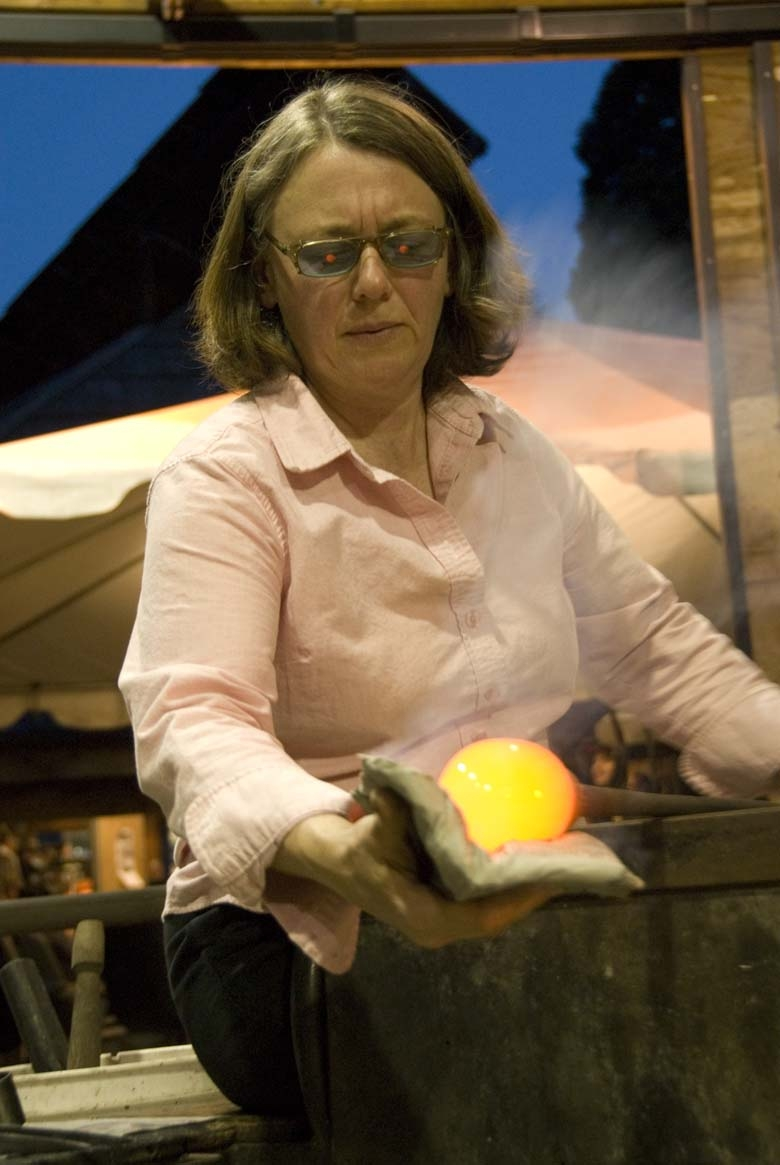 """Ruth King's featured presentation is entitled: """"You Have to Get Out of It to Get Into It:  How university glass programs can balance glass craft with issues in contemporary art"""""""