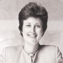 A skilled business pioneer, the late Alice Chappell supported the advancement of studio glass artists on an international scope. photo: chapman cole & gleason funeral homes.