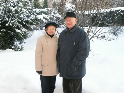 Jiri Harcuba with his wife, Zdena.