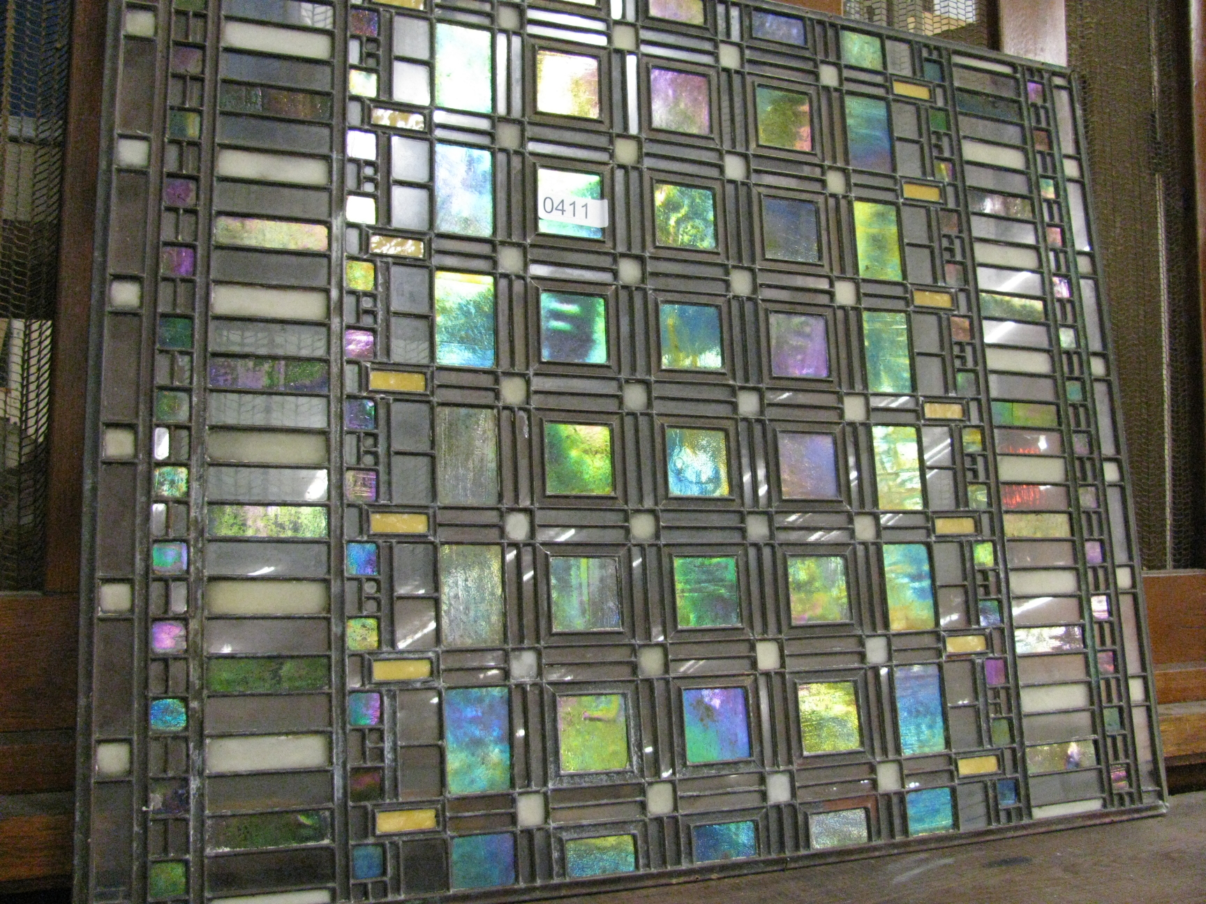 Rare frank lloyd wright glass window to be auctioned for Glass windows