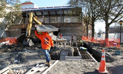 Construction is underway at the Chrysler Museum of Art, set for an April 2014 reopening.