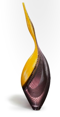 oca, 2013. Blown and carved glass. H 36 3/4, W 9 3/4, D 6 3/4 in. courtesy: traver gallery