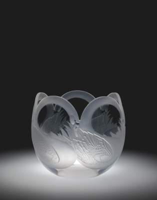 Jane Osborn-Smith and Peter S. Aldridge for Steuben, Swan Bowl