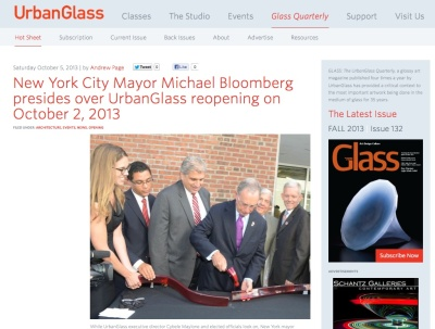 The completely redesigned UrbanGlass.org Web page now includes the GLASS Quarterly Hot Sheet.